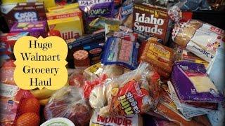 Huge Walmart April Grocery Haul & Meal Plan