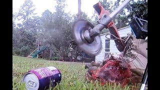 Weed eater saw blade videos ytube circular saw blade or skill saw blade on weed eater trimmer greentooth Image collections
