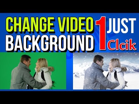 Change Video Backgrounds 1 Click | Replace Any Background in My Video