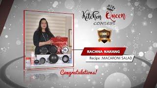 Kitchen Queen Contest Winner Rachna Narang