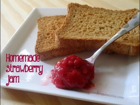 Homemade strawberry jam - low sugar,pectin free,gelatin free,all natural recipe