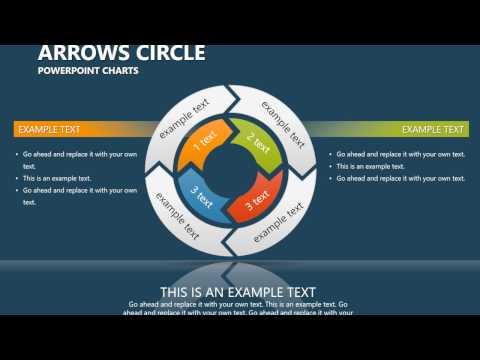 Arrows Circle PowerPoint charts