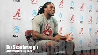 Alabama RB Bo Scarbrough talks Mississippi State game