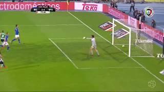 Golo de Bruno Fernandes (GP): Belenenses 3-(4) Sporting (Liga 30ªJ)