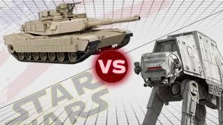 AT-AT vs M1A2 Abrams Tanks  (x5) | USA vs Star Wars: Who Would Win?