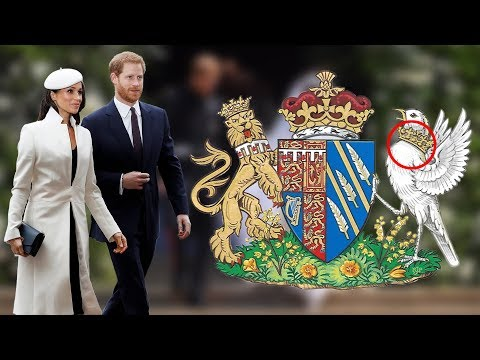 Real reason Why the crown's around the songbird's neck on Meghan's Coat of Arms