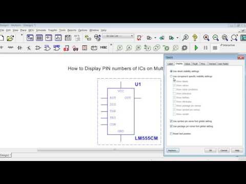 How to Display PIN Numbers of ICs on Multisim