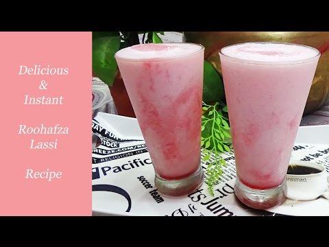 Roohafza Lassi Recipe/ Delicious & Healthy & Instant  Drink Recipe for welcome drink Menu