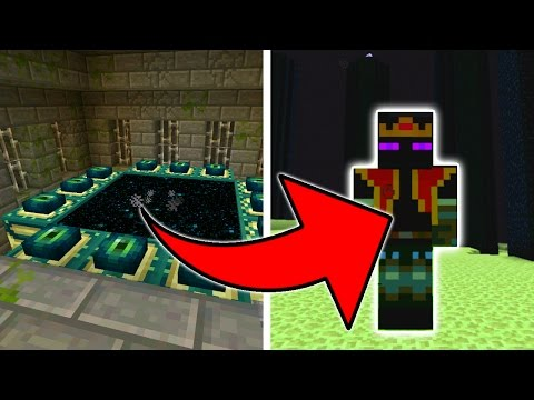 Summoning the Ender King in Minecraft Pocket Edition (End King Boss Fight Addon)
