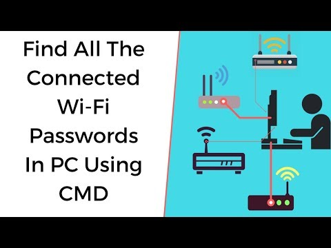 How to find all the connected/saved  Wi-fi passwords using CMD