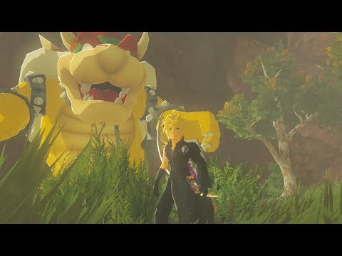 Cloud Meets Bowser in Zelda Breath of the Wild