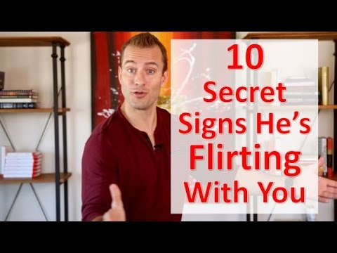 10 Secret Signs He's Flirting With You