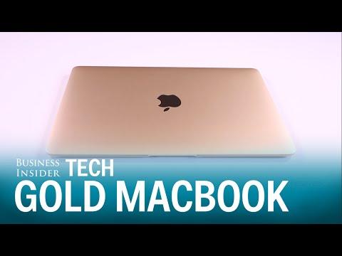 Unboxing Apple's new gold Macbook