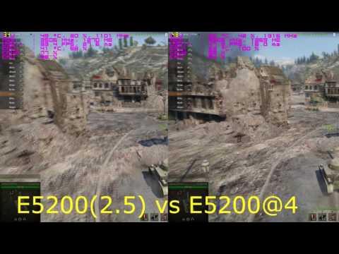 Разгон (Overclocking) Pentium E5200(2.5)@4Ghz  + GTX 970 test Wot 9.15