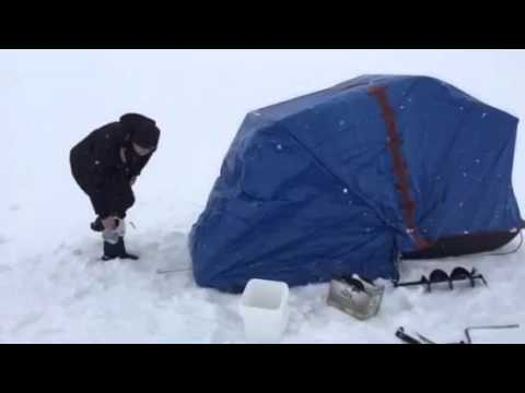 DIY Sled folding ice hut