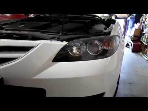 Mazda 3 2007 Headlight Bulb Replacement