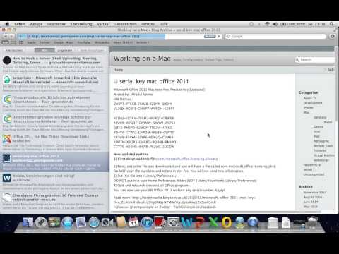 Microsoft Office 2011 Mac Crack [German/Deutsch]