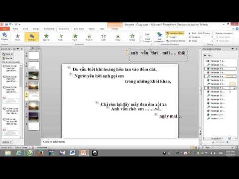Hướng dẫn làm karaoke đơn giản bằng phần mềm powerpoint 2010