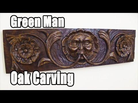 Green Man Wood Carving
