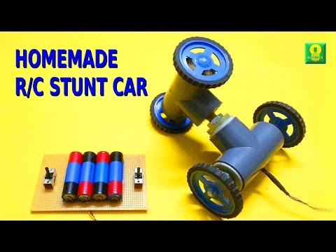 How to make Remote Controlled Stunt Car at home