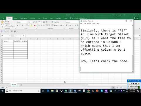 Automatically enter date & time as cell is updated/changed in Excel