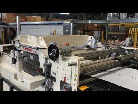 SARONNI   ALUMINUM EMBOSSING LINE WITH SLITTER AND TILTING SHEAR