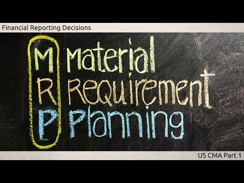 Material Requirement Planning | Cost Managment| US CMA Part 1| US CMA course