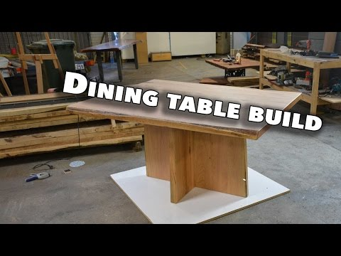 Making a Square Dining Room Table (Live edge, blackbutt, rustic table)