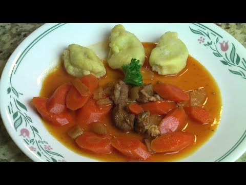 Žlikrofi with Bakalca, Slovenian recipe
