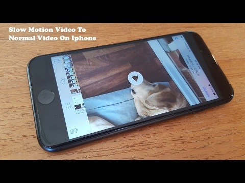 How To Change Slow Motion Video To Normal Video On Iphone - Fliptroniks.com