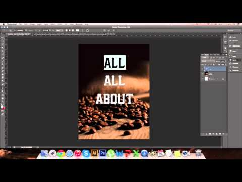 Making a poster design in Photoshop