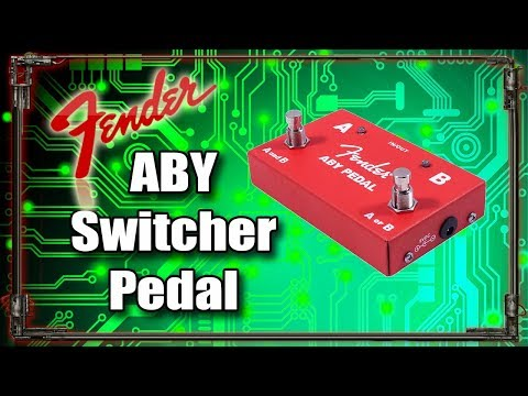 Fender ABY Switcher Pedal (2 amps 1 guitar)