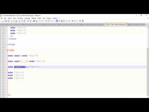 PHP|| How To generate Random Number  (min-max)