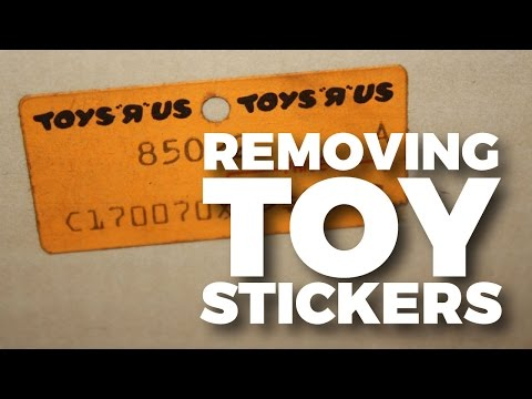 Removing Stickers & Labels From Carded Action Figures