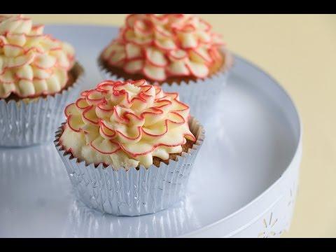 Moist Vanilla Cupcake Recipe with Ruffle Frosting