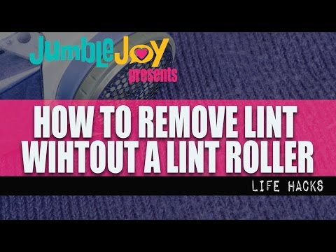 How To Remove Lint Without a Lint Roller