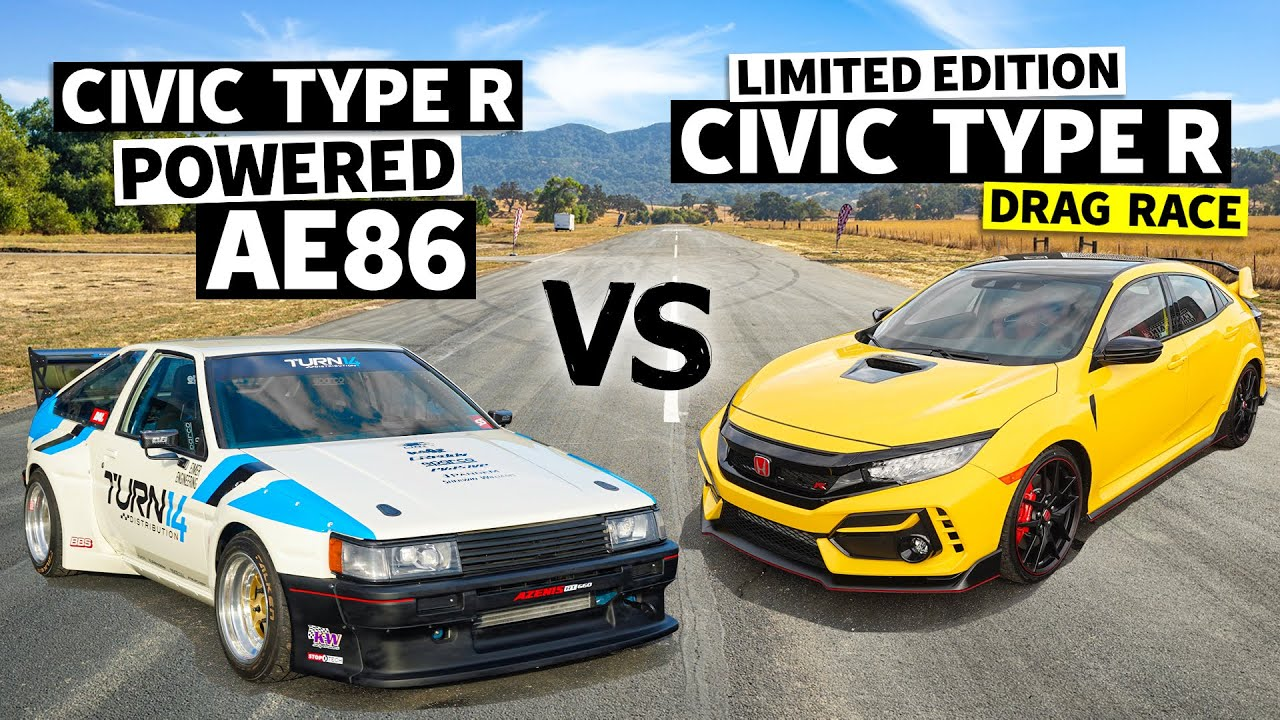 K20C Turbo Swapped AE86 vs. a 2021 Civic Type R. Same Engine, Two Ways! // This vs. That