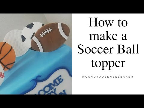 How to make a Fondant soccer ball