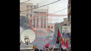 تظاهرة احتجاجية أمام السفارة الأميركية في عوكر شمال لبنان