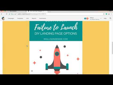 HOW TO:  DIY Mailchimp Landing Page Tutorial