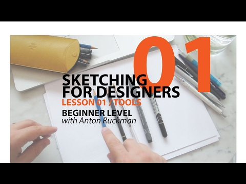 How to  Draw . Sketching for Product Designers  Tutorial. Tools.  Beginner01