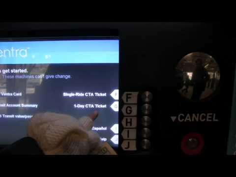 Ventra Vending Machine How to use it Chicago Transit