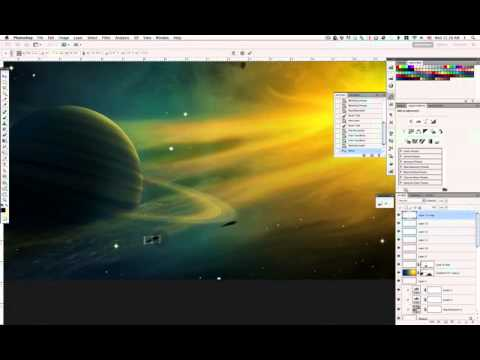 The Cosmos: Create a Supernova and a Ringed Planet in Photoshop (Part 11)