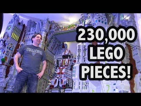 Epic Huge LEGO Citadel of Megiddo and Mech Suit!