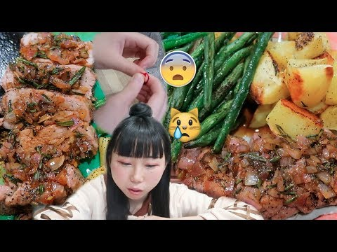 Making Dinner&Cutting my Finger Again! Figgy Pork Meal&More