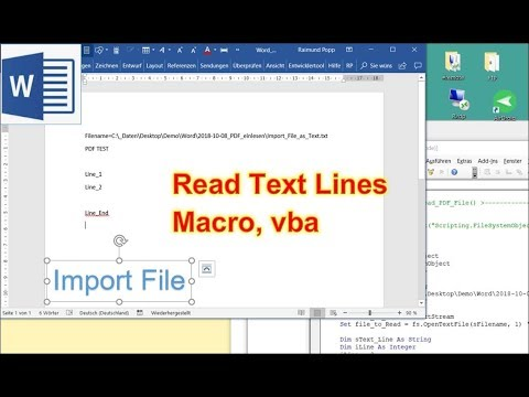 Read Files programmatically with Word