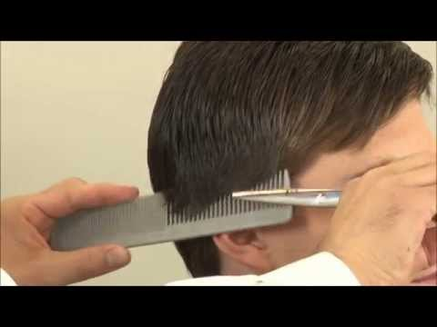 Classic Side Part Hairstyle – How To Cut Hair With Scissors – Part 3