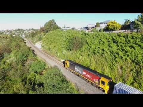 Train / Drone Compilation around Tauranga   New Zealand