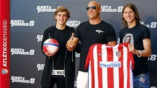 Griezmann and Filipe were at the presentation of Fast & Furious 8