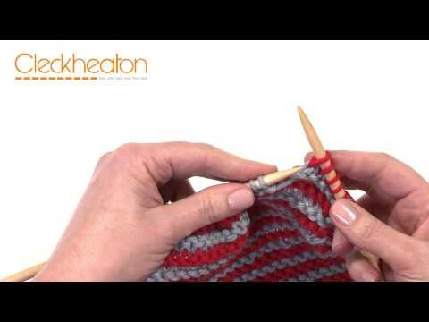 Knitting Stripes - Beginner Scarf